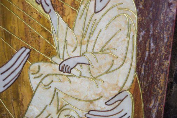 Икона Тихвинской Божией Матери № 1-12,7 из мрамора, камня, изображение, фото 8