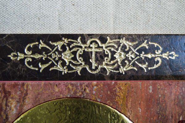Икона Тихвинской Божией Матери № 1-12,7 из мрамора, камня, изображение, фото 9