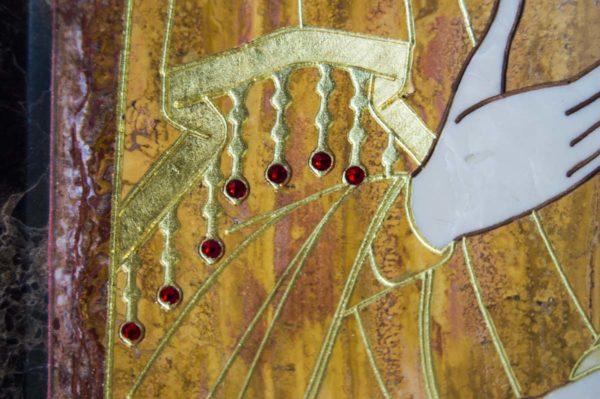 Икона Тихвинской Божией Матери № 1-12,7 из мрамора, камня, изображение, фото 10