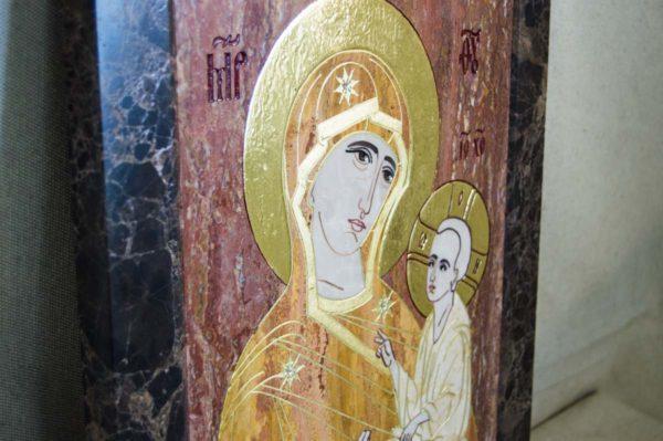 Икона Тихвинской Божией Матери № 1-12,7 из мрамора, камня, изображение, фото 4