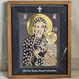 Икона Ченстоховской Божией Матери № 1-12,1 из мрамора, каталог икон, изображение, фото 7