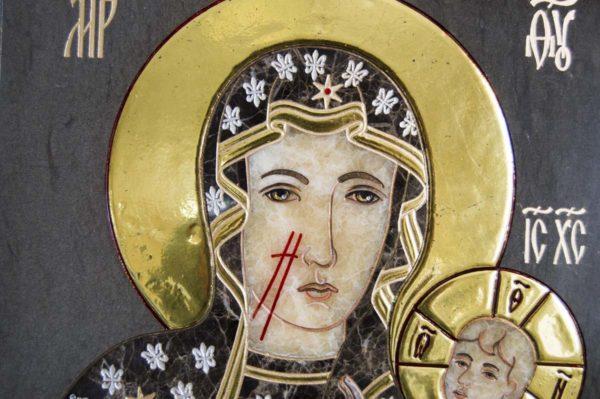 Икона Ченстоховской Божией Матери № 1-12,1 из мрамора, каталог икон, изображение, фото 3