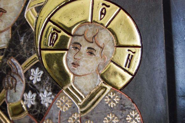 Икона Ченстоховской Божией Матери № 1-12,1 из мрамора, каталог икон, изображение, фото 6