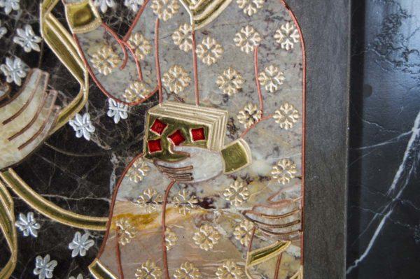 Икона Ченстоховской Божией Матери № 1-12,1 из мрамора, каталог икон, изображение, фото 2