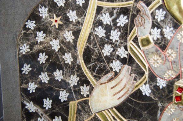 Икона Ченстоховской Божией Матери № 1-12,1 из мрамора, каталог икон, изображение, фото 5