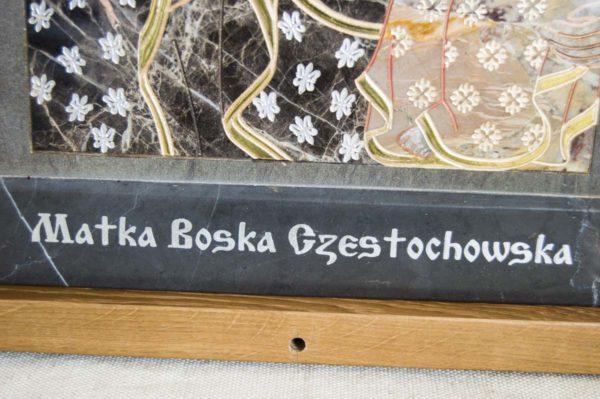 Икона Ченстоховской Божией Матери № 1-12,1 из мрамора, каталог икон, изображение, фото 4