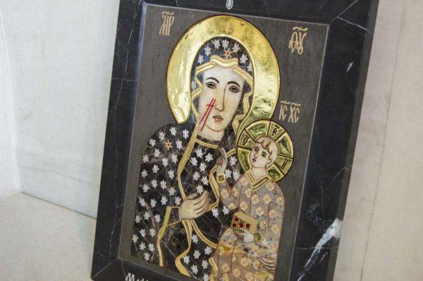 Икона Ченстоховской Божией Матери № 1-12,1 из мрамора, каталог икон, изображение, фото 8