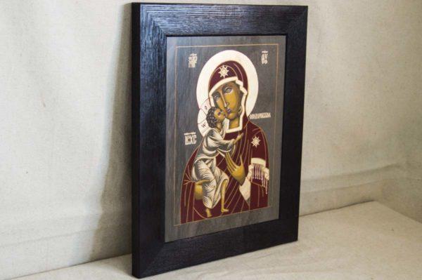 Икона Феодоровской Божией Матери № 1 из мрамора, камня, изображение, фото 5