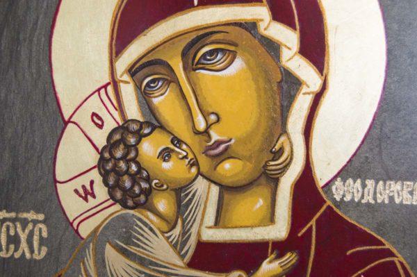 Икона Феодоровской Божией Матери № 1 из мрамора, камня, изображение, фото 4