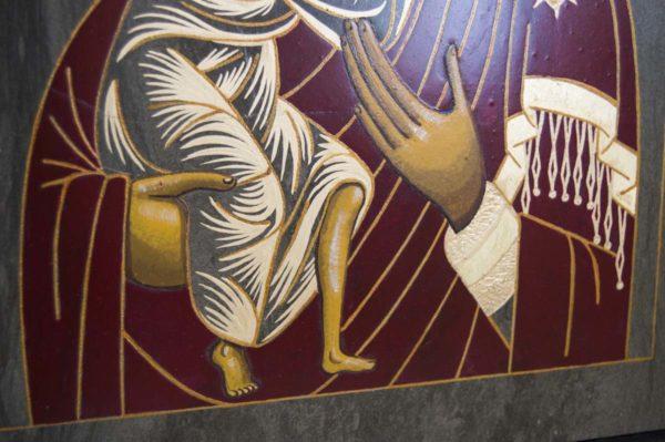 Икона Феодоровской Божией Матери № 1 из мрамора, камня, изображение, фото 3