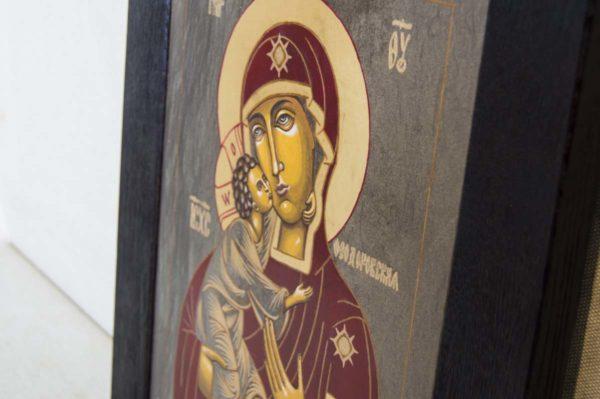 Икона Феодоровской Божией Матери № 1 из мрамора, камня, изображение, фото 2