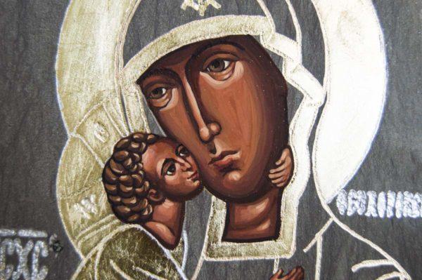 Икона Феодоровской Божией Матери № 2 из мрамора, камня, изображение, фото 4