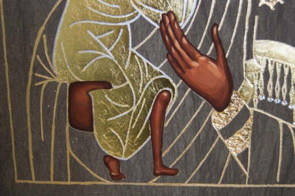 Икона Феодоровской Божией Матери № 2 из мрамора, камня, изображение, фото 2