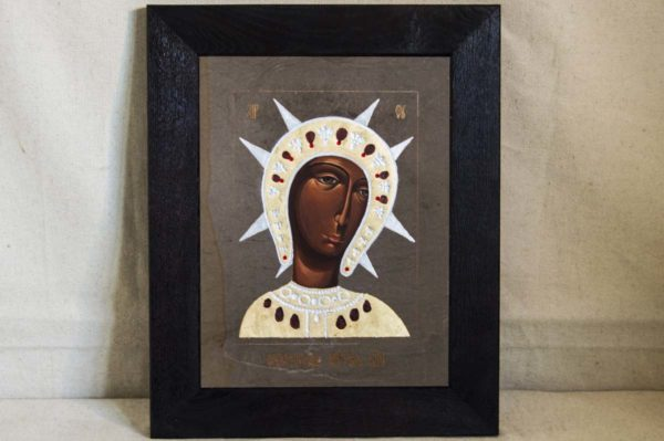 Икона Филермской Божией Матери № 1 из мрамора, камня, изображение, фото 1