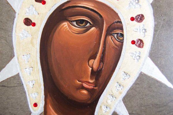 Икона Филермской Божией Матери № 1 из мрамора, камня, изображение, фото 4