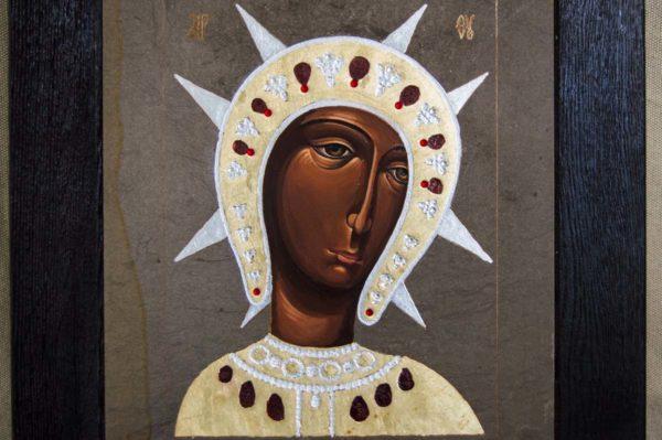 Икона Филермской Божией Матери № 1 из мрамора, камня, изображение, фото 3