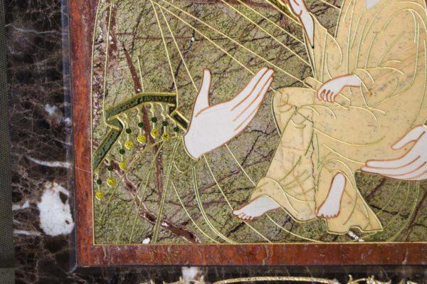 Икона Тихвинской Божией Матери № 1-12,1 из мрамора, камня, изображение, фото 3