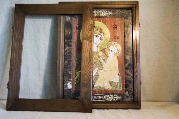 Икона Тихвинской Божией Матери № 1-12,1 из мрамора, камня, изображение, фото 4