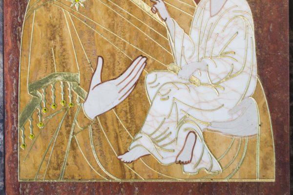 Икона Тихвинской Божией Матери № 1-12,3 из мрамора, камня, изображение, фото 2