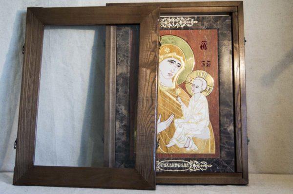 Икона Тихвинской Божией Матери № 1-12,3 из мрамора, камня, изображение, фото 5