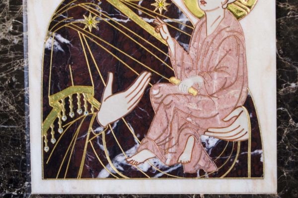 Икона Тихвинской Божией Матери № 1-12,4 из мрамора, камня, изображение, фото 4