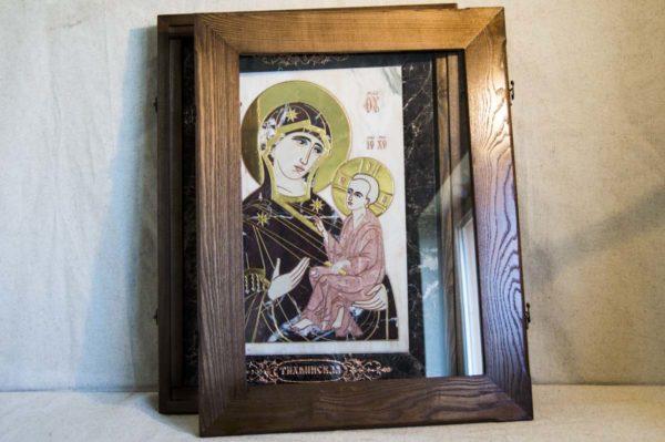 Икона Тихвинской Божией Матери № 1-12,4 из мрамора, камня, изображение, фото 5