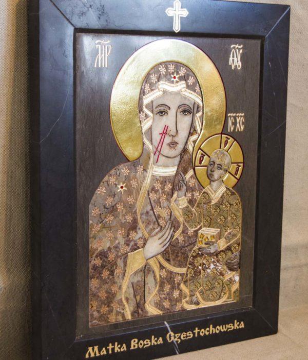 Икона Ченстоховской Божией Матери № 1-12,2 из мрамора, каталог икон, изображение, фото 5