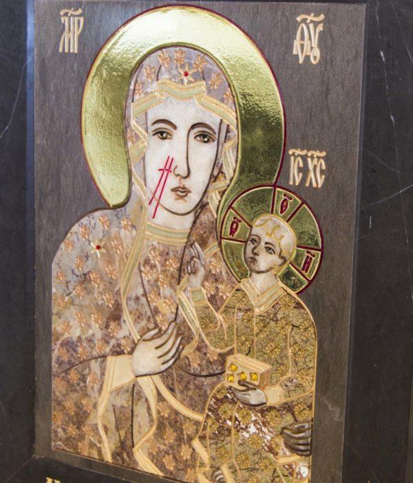 Икона Ченстоховской Божией Матери № 1-12,2 из мрамора, каталог икон, изображение, фото 4