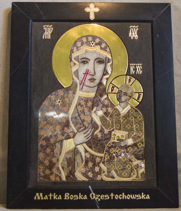 Икона Ченстоховской Божией Матери № 1-12,2 из мрамора, каталог икон, изображение, фото 2