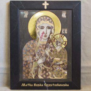 Икона Ченстоховской Божией Матери № 1-12,2 из мрамора, каталог икон, изображение, фото 8