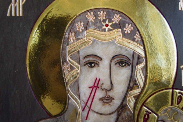 Икона Ченстоховской Божией Матери № 1-12,2 из мрамора, каталог икон, изображение, фото 7