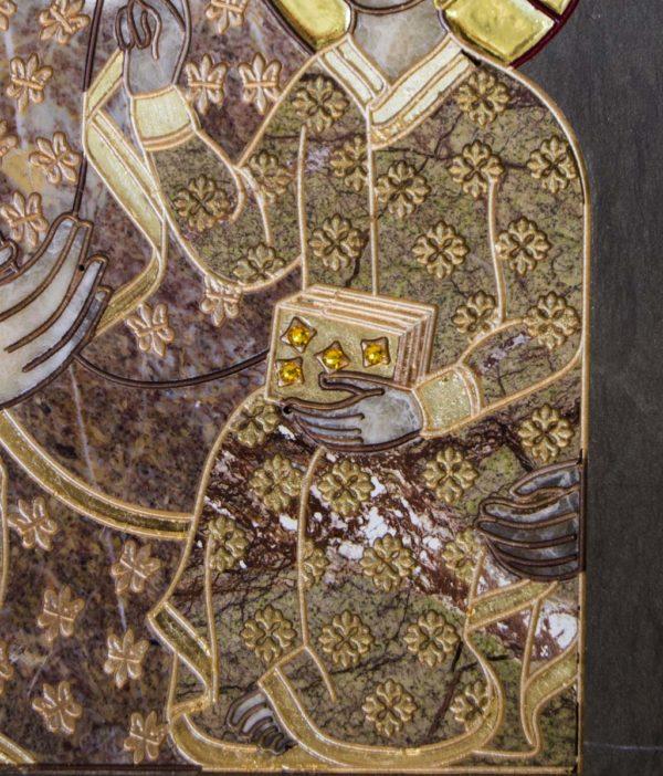Икона Ченстоховской Божией Матери № 1-12,2 из мрамора, каталог икон, изображение, фото 3