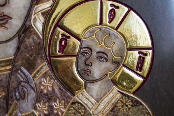 Икона Ченстоховской Божией Матери № 1-12,2 из мрамора, каталог икон, изображение, фото 9