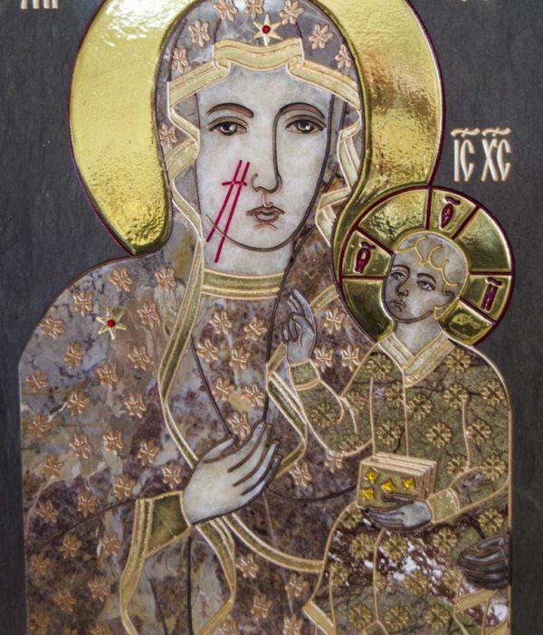Икона Ченстоховской Божией Матери № 1-12,2 из мрамора, каталог икон, изображение, фото 10