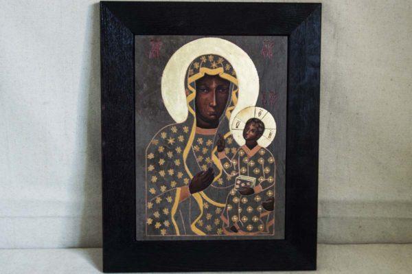 Икона Ченстоховской Божией Матери № 04 из мрамора, каталог икон, изображение, фото 2