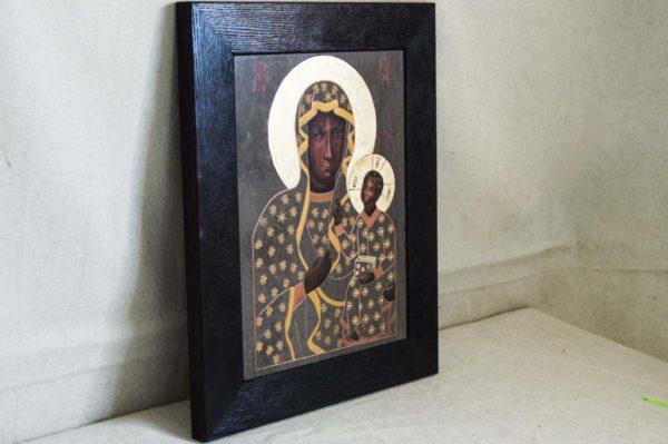 Икона Ченстоховской Божией Матери № 04 из мрамора, каталог икон, изображение, фото 4