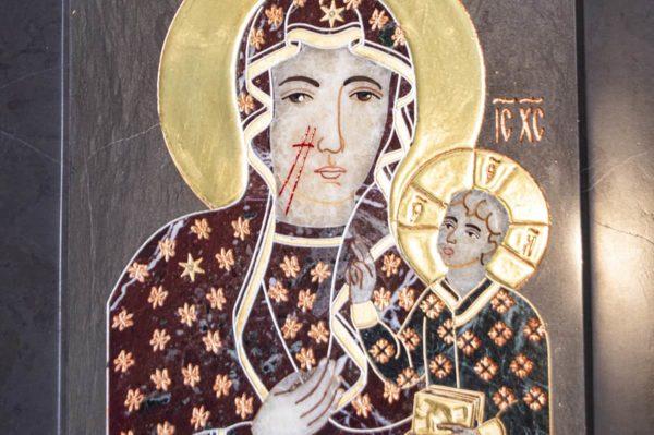 Икона Ченстоховской Божией Матери № 1-12,6 из мрамора, каталог икон, изображение, фото 7
