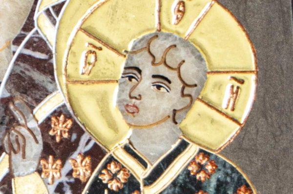 Икона Ченстоховской Божией Матери № 1-12,6 из мрамора, каталог икон, изображение, фото 5