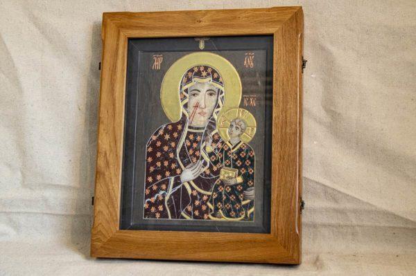 Икона Ченстоховской Божией Матери № 1-12,6 из мрамора, каталог икон, изображение, фото 4