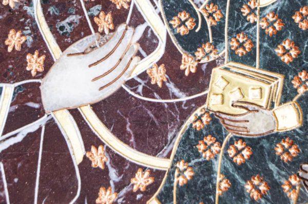 Икона Ченстоховской Божией Матери № 1-12,6 из мрамора, каталог икон, изображение, фото 2
