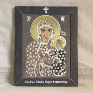 Икона Ченстоховской Божией Матери № 1-12,5 из мрамора, каталог икон, изображение, фото 2