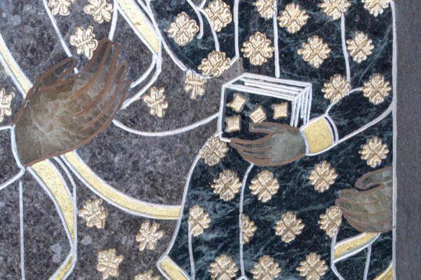 Икона Ченстоховской Божией Матери № 1-12,5 из мрамора, каталог икон, изображение, фото 4