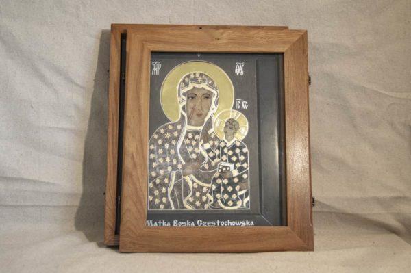 Икона Ченстоховской Божией Матери № 1-12,5 из мрамора, каталог икон, изображение, фото 5