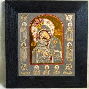 Икона Почаевской Божией Матери № 3 из мрамора, камня, изображение, фото 6