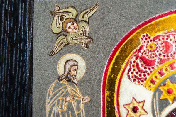 Икона Почаевской Божией Матери № 3 из мрамора, камня, изображение, фото 3
