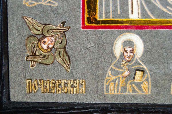 Икона Почаевской Божией Матери № 3 из мрамора, камня, изображение, фото 4