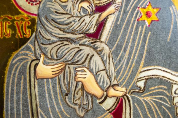 Икона Почаевской Божией Матери № 3 из мрамора, камня, изображение, фото 1