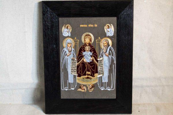 Икона Свенской (Печерской) Божией Матери № 2 из мрамора, камня, изображение, фото 5