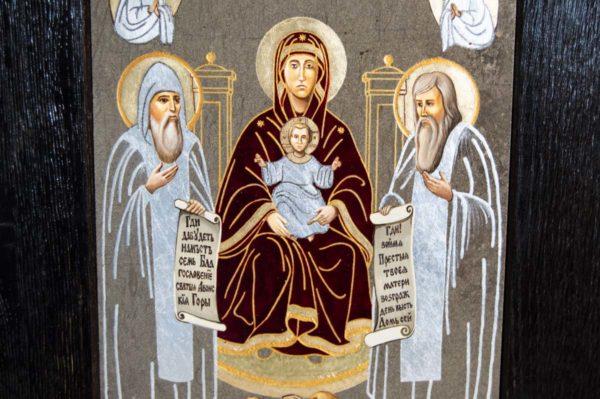 Икона Свенской (Печерской) Божией Матери № 2 из мрамора, камня, изображение, фото 2