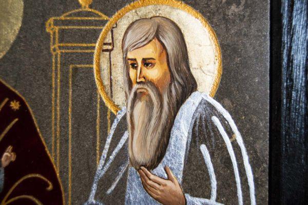 Икона Свенской (Печерской) Божией Матери № 2 из мрамора, камня, изображение, фото 4